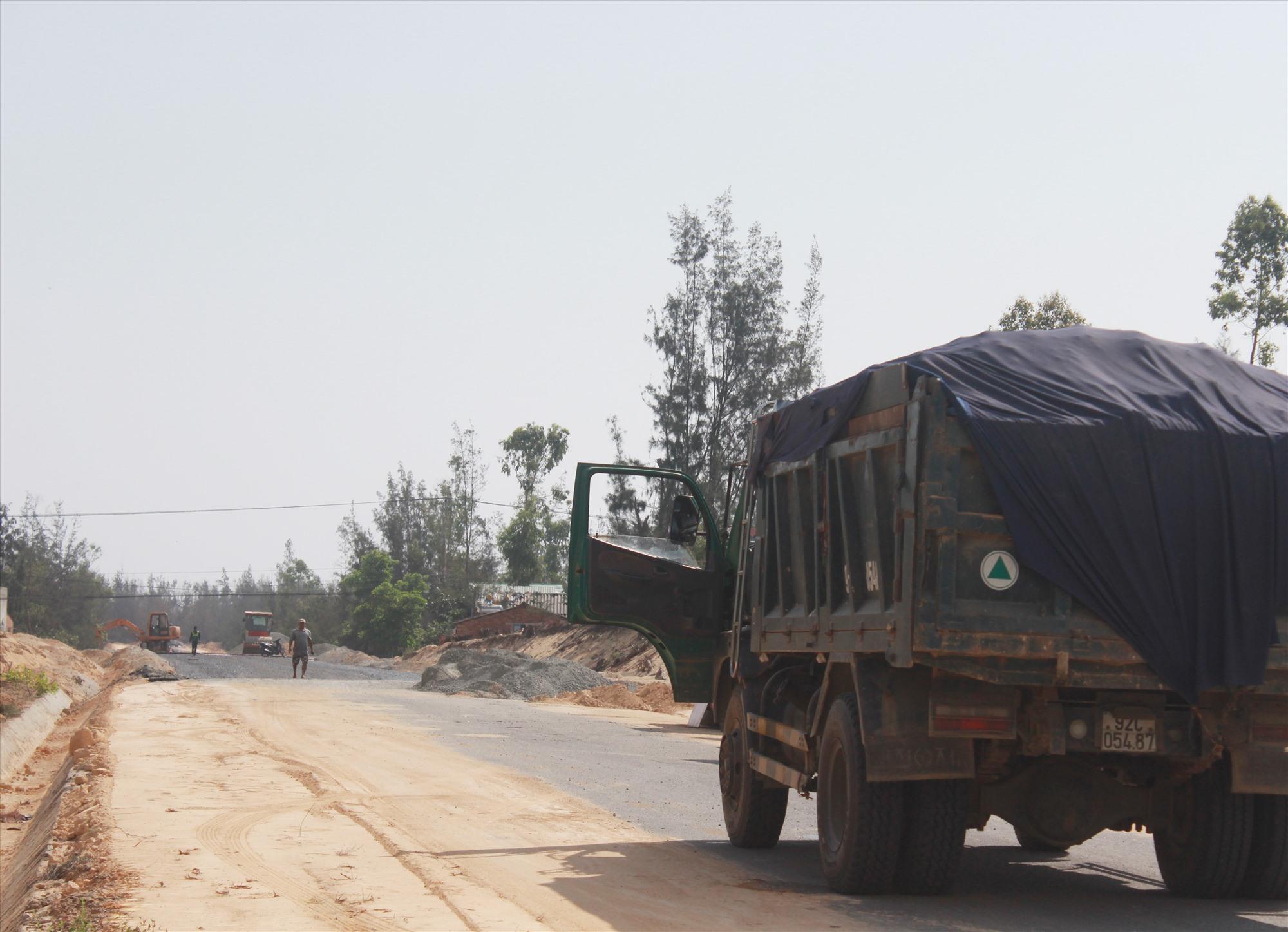 Vướng về giải phóng mặt bằng ảnh hưởng tiến độ nhiều dự án tái định cư tại huyện Thăng Bình. Ảnh: T.C