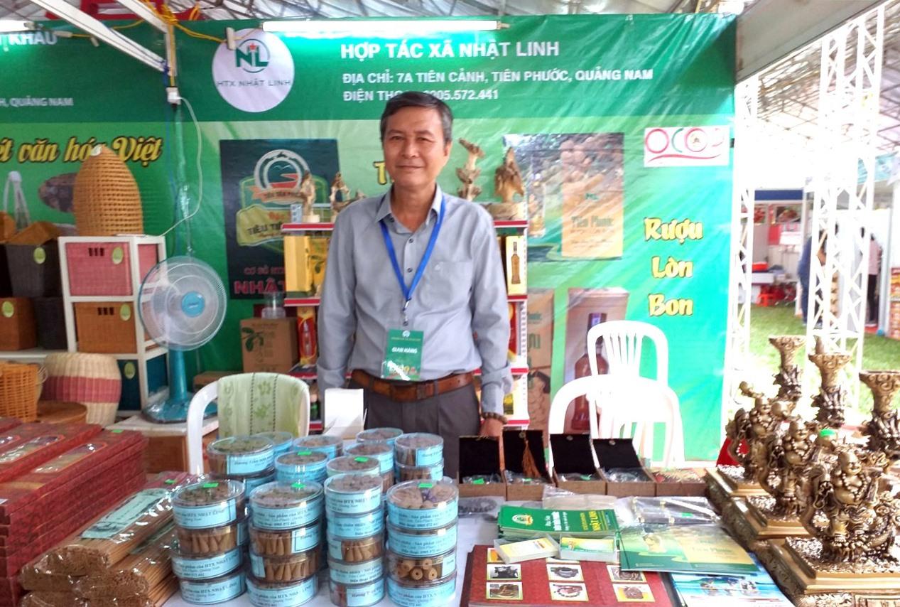 Hợp tác xã Nhật Linh tham dự sự kiện hội nghị giao thương và giới thiệu sản phẩm khu vực châu Á tại TP.Hồ Chí Minh. Ảnh: C.T