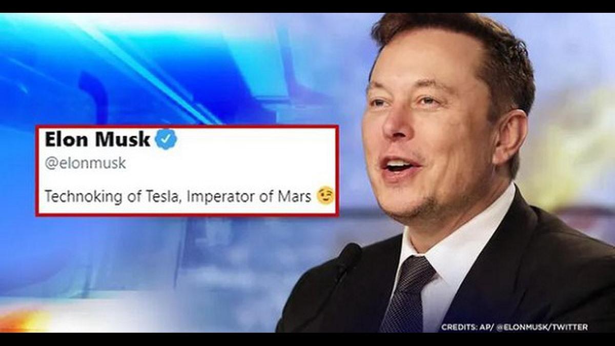 Giám đốc điều hành của Tesla và SpaceX thậm chí còn thêm biểu tượng cảm xúc nháy mắt sau dòng mô tả. Ảnh: AP