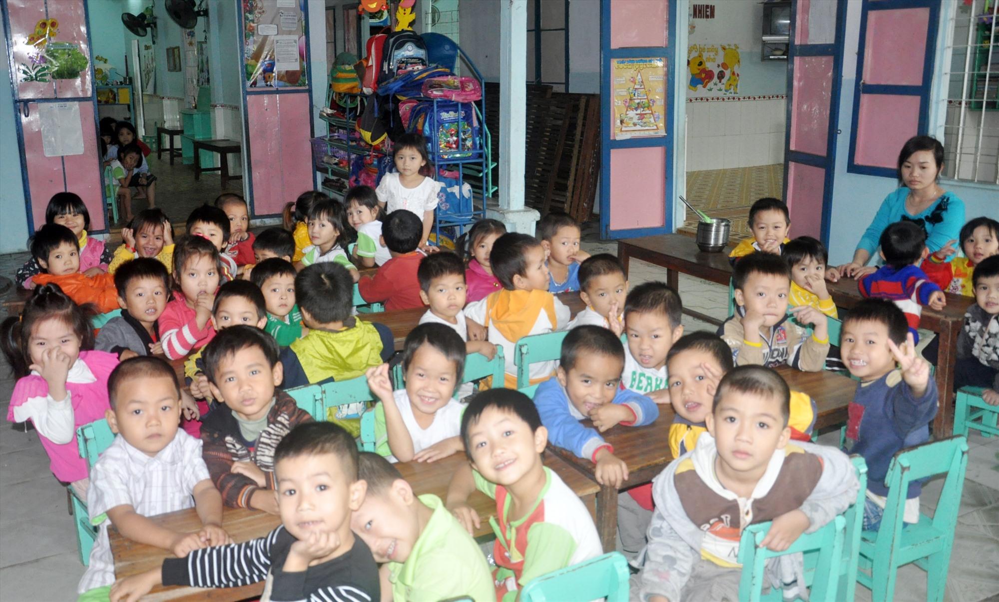 Cơ sở mầm non tư thục Hương Sen (Điện Bàn). Ảnh: X.P