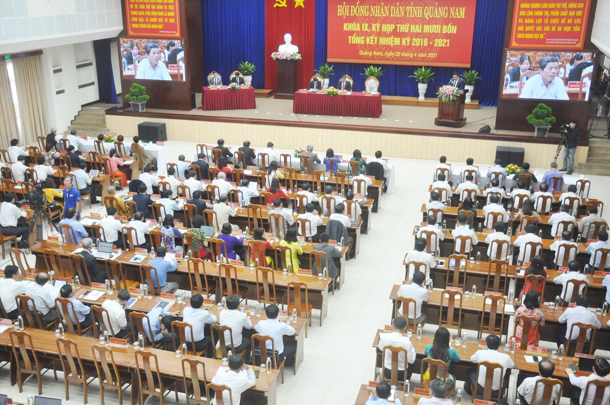 Quang cảnh Kỳ họp thứ 24 diễn ra sáng nay 20.4. Ảnh N.Đ
