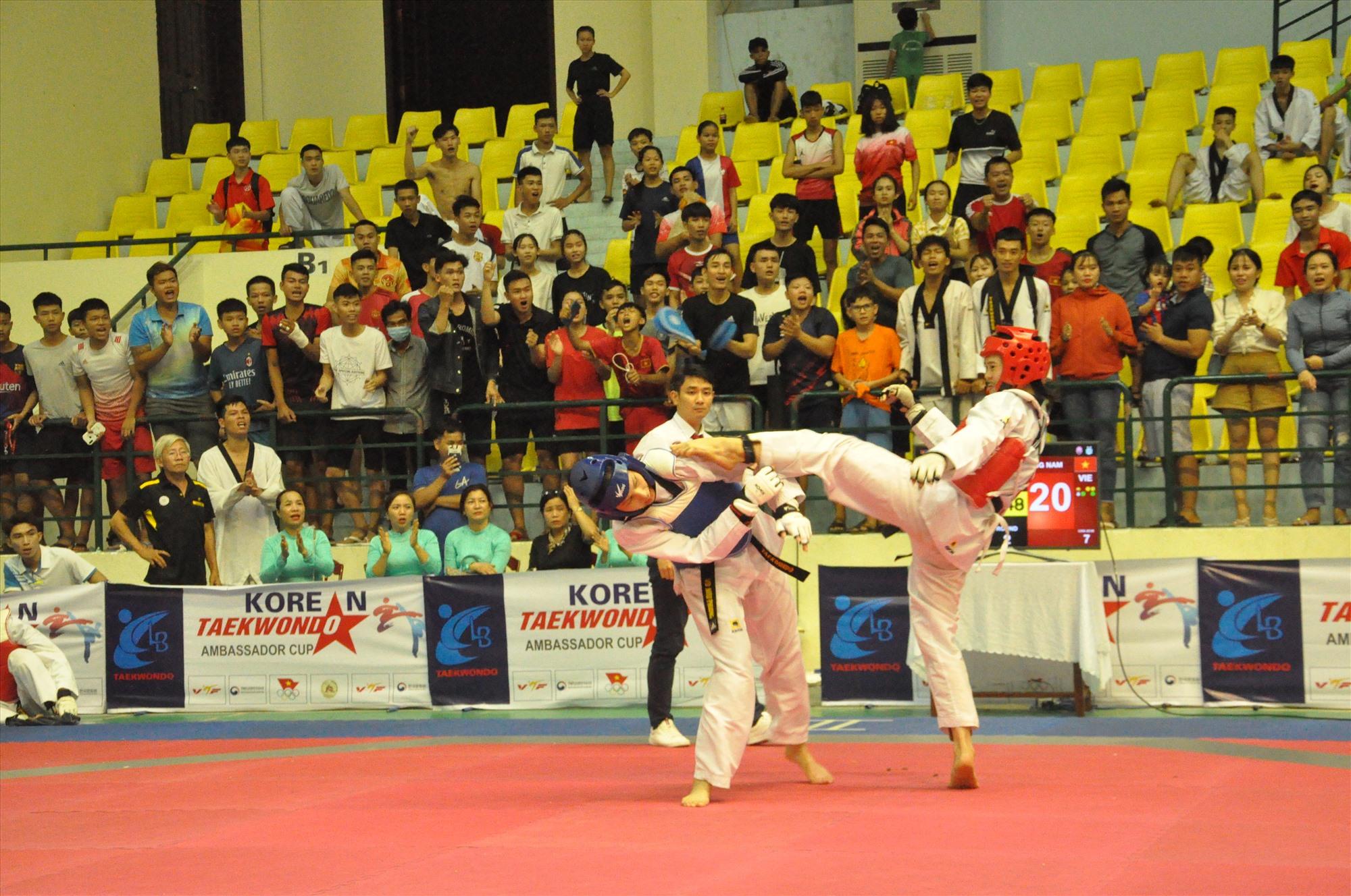 Giải vô địch các Câu lạc bộ Taekwondo toàn quốc năm 2021. Ảnh: T.VY