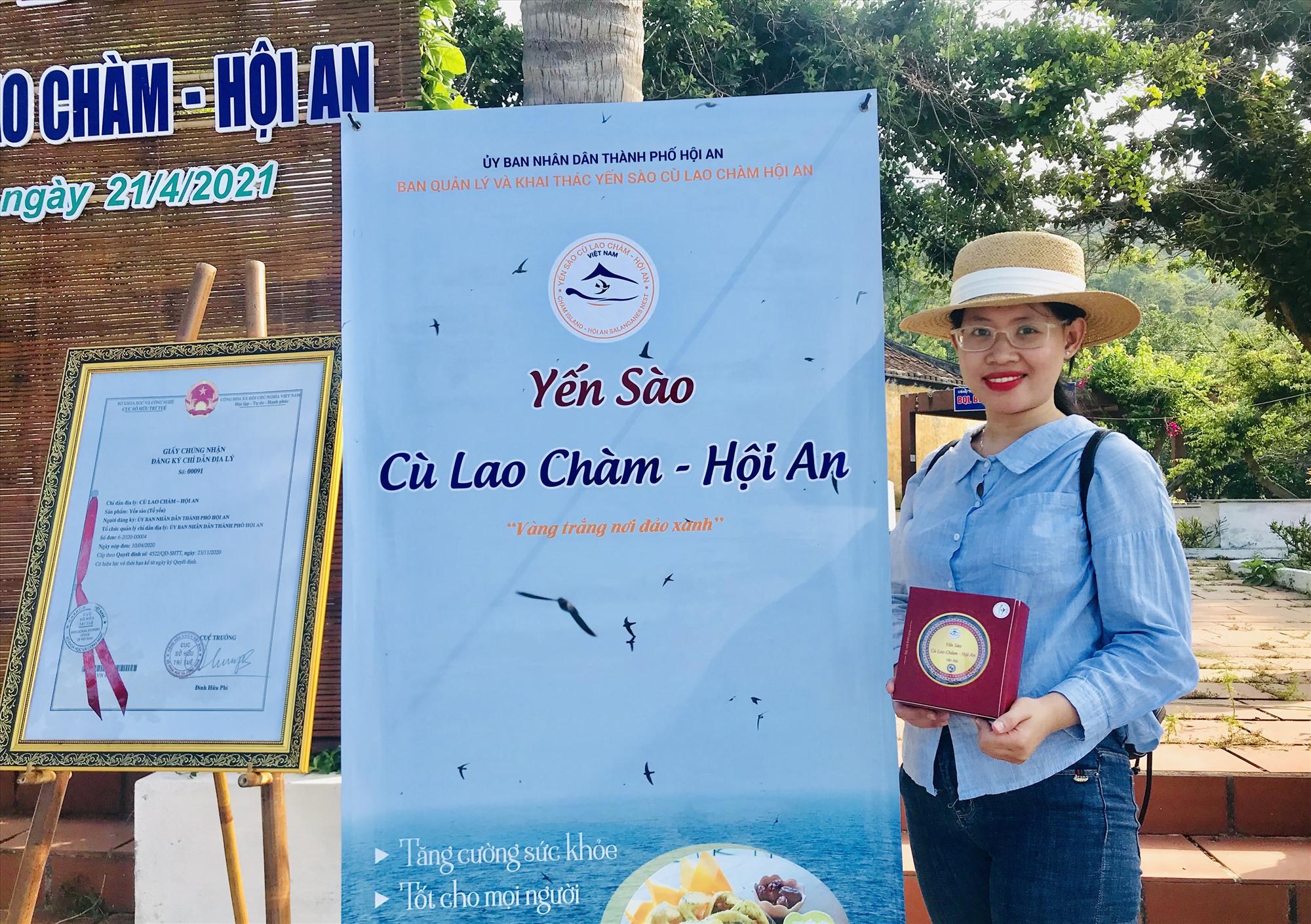 Với việc được cấp chỉ dẫn địa lý, yến sào Cù Lao Chàm - Hội An được bảo hộ vô thời hạn trên toàn lãnh thổ Việt Nam. Ảnh: Q.T