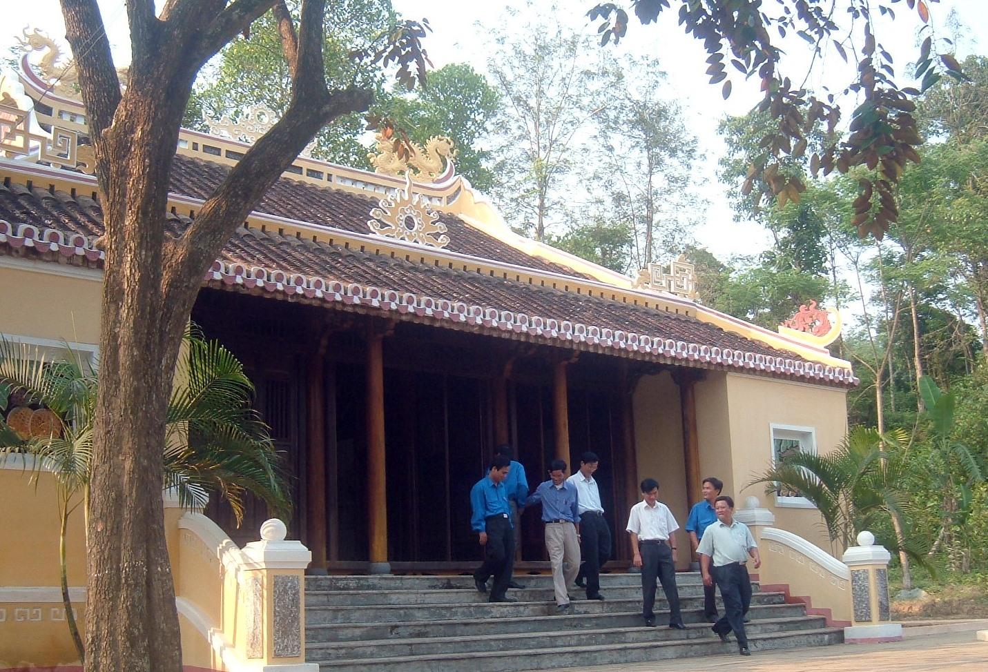 Một góc nhà lưu niệm cụ Phan Châu Trinh ở Phú Ninh. Ảnh: H.X.H