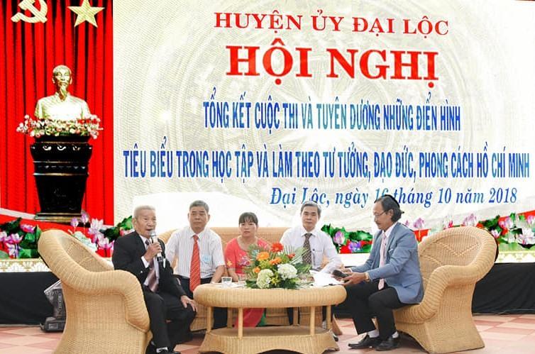 Huyện ủy Đại Lộc tổ chức giao lưu các gương điển hình thực hiện Chỉ thị 05 của Bộ Chính trị (khóa XII). Ảnh: T.T