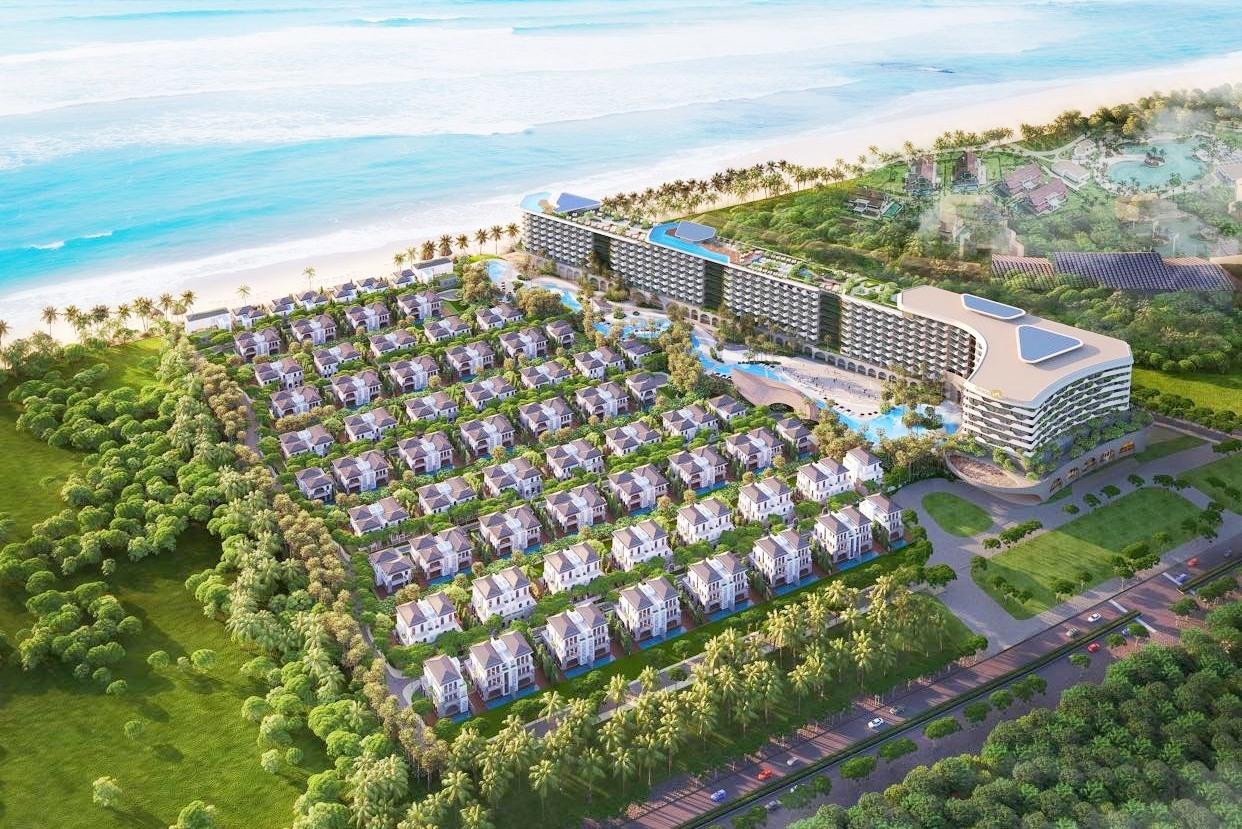 Phối cảnh dự án Grand Mercure Hoi An dự kiến sẽ chính thức vận hành từ quý 1.2023.