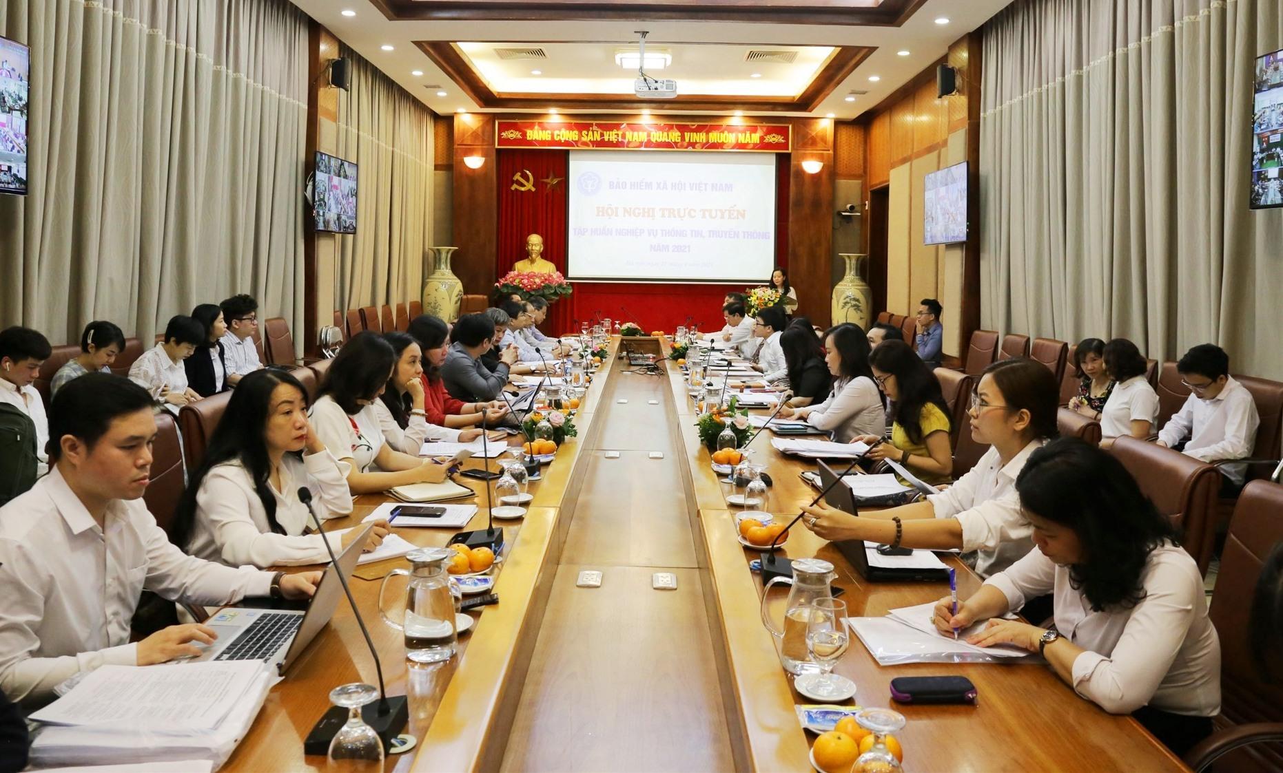 Bảo hiểm xã hội Việt Nam tổ chức hội nghị tập huấn nghiệp vụ thông tin, truyền thông năm 2021. Ảnh: D.L