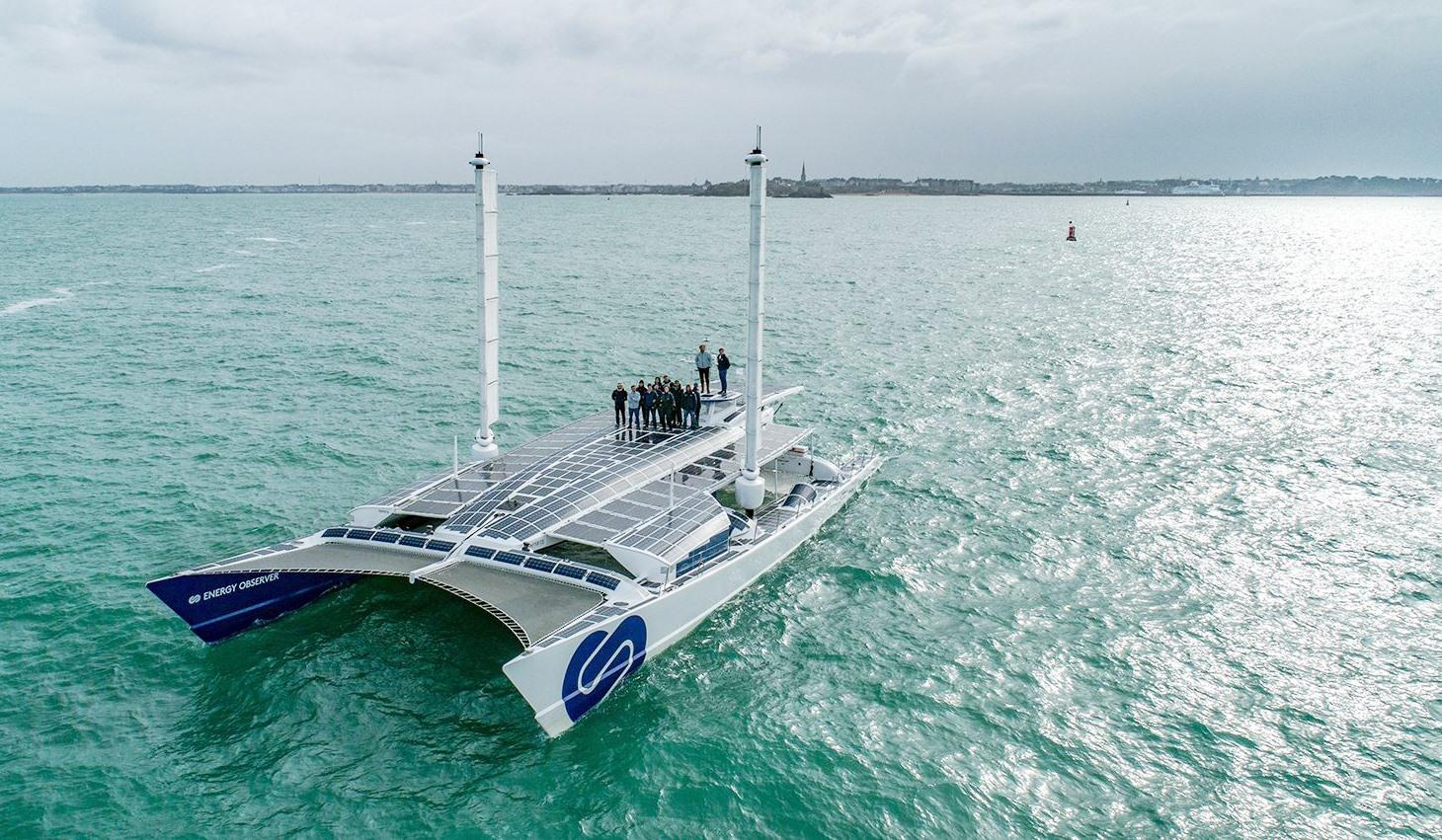 Con tàu Energy Observer chạy bằng năng lượng hydro đầu tiên trên thế giới. Ảnh: boatinternational