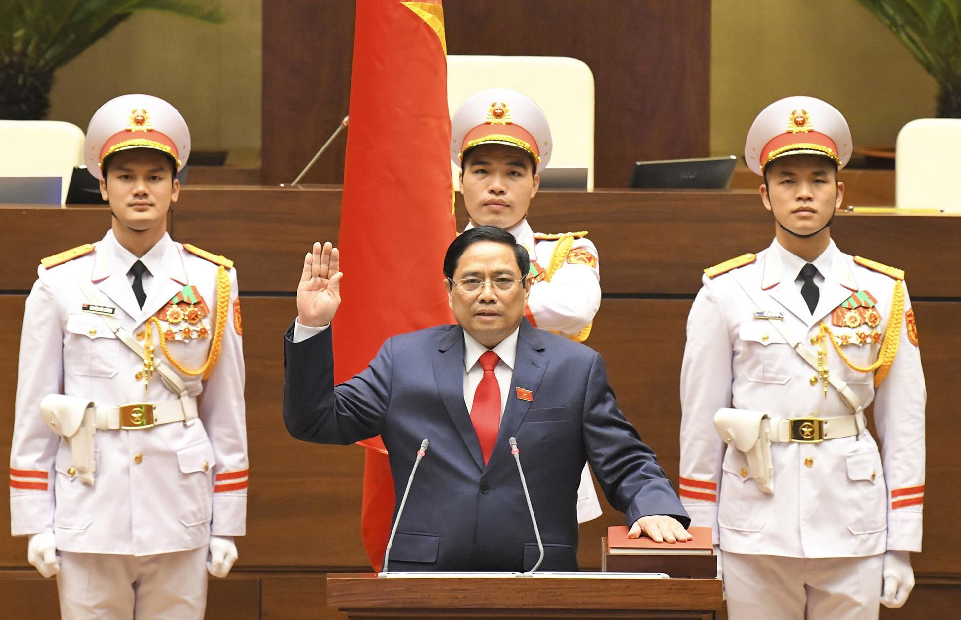 Thủ tướng Chính phủ Phạm Minh Chính tuyên thệ