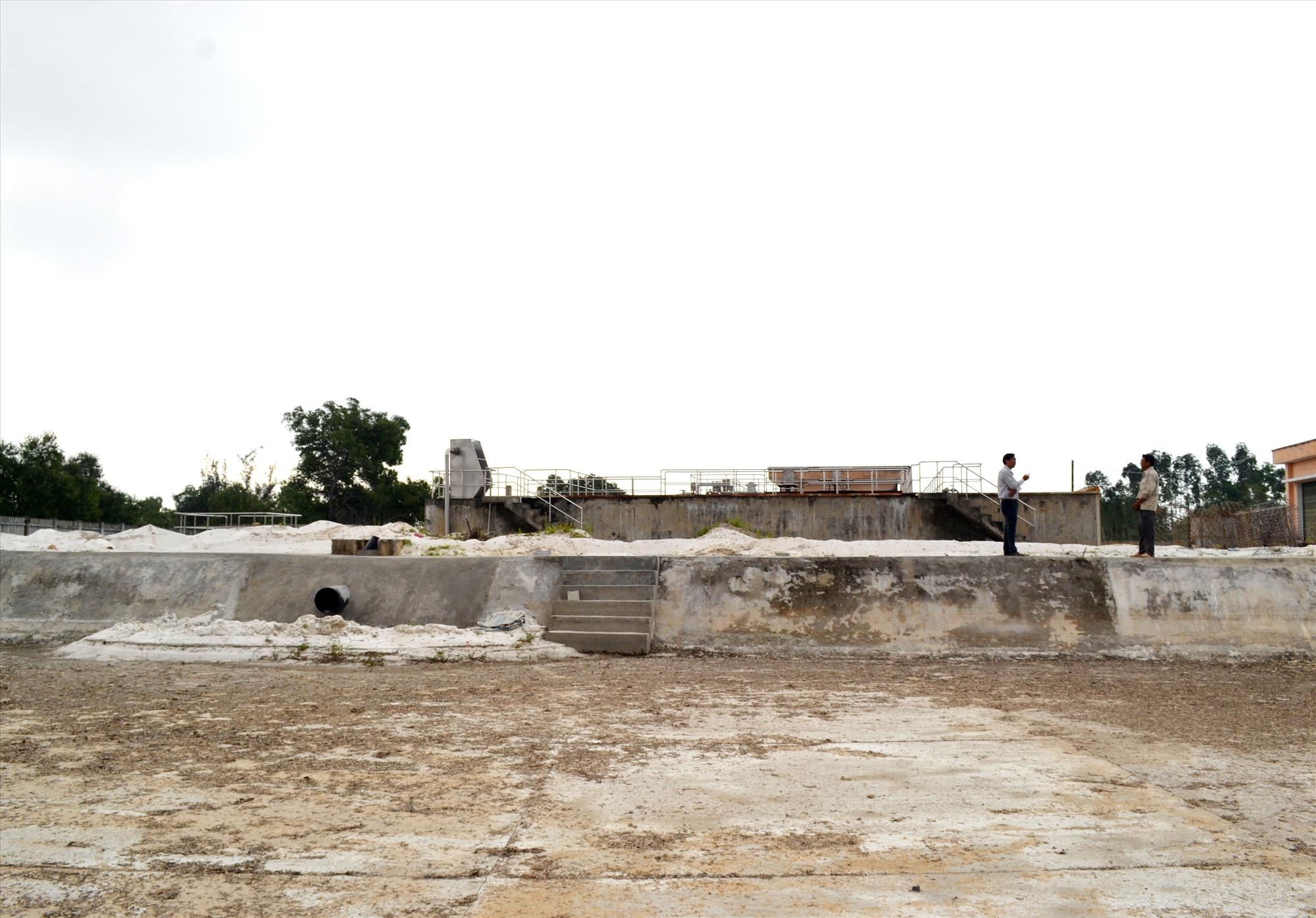Hệ thống xử lý nước thải sắp được vận hành ở CCN Hà Lam - Chợ Được (Thăng Bình). Ảnh: VIỆT NGUYỄN