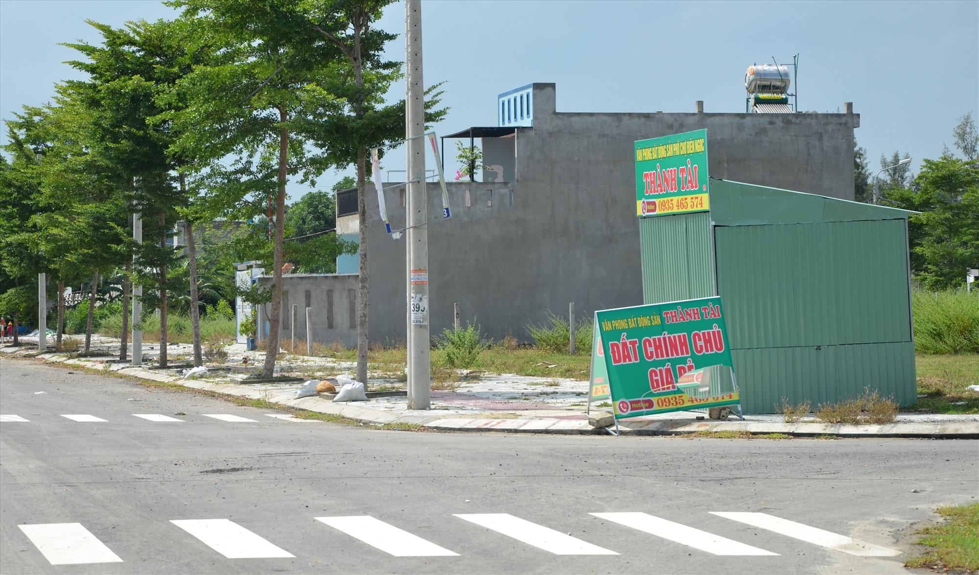 Giao dịch bất động sản bắt đầu rục rịch trở lại tại Đô thị mới Điện Nam - Điện Ngọc. Ảnh: H.P