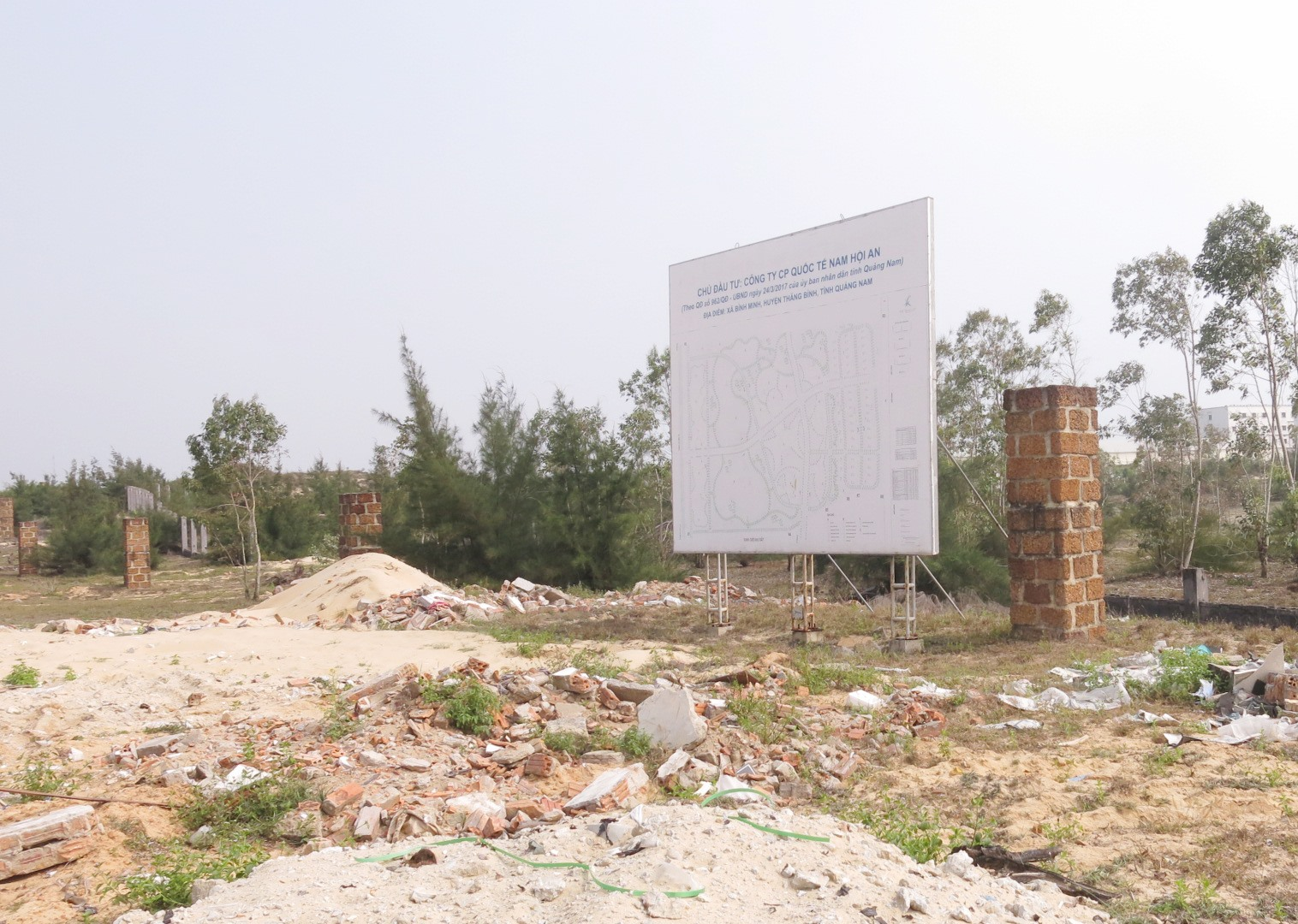 Khu vực triển khai dự án Khu nghỉ dưỡng phức hợp quốc tế An Thịnh – PPC.Ảnh: T.D