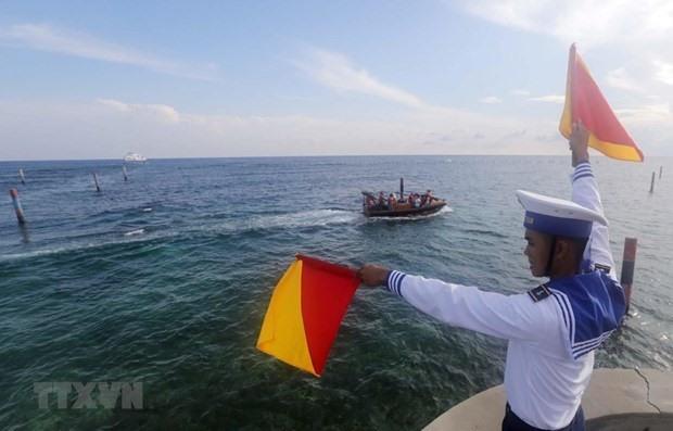 A Vietnamese naval officer  (Photo: VNA)