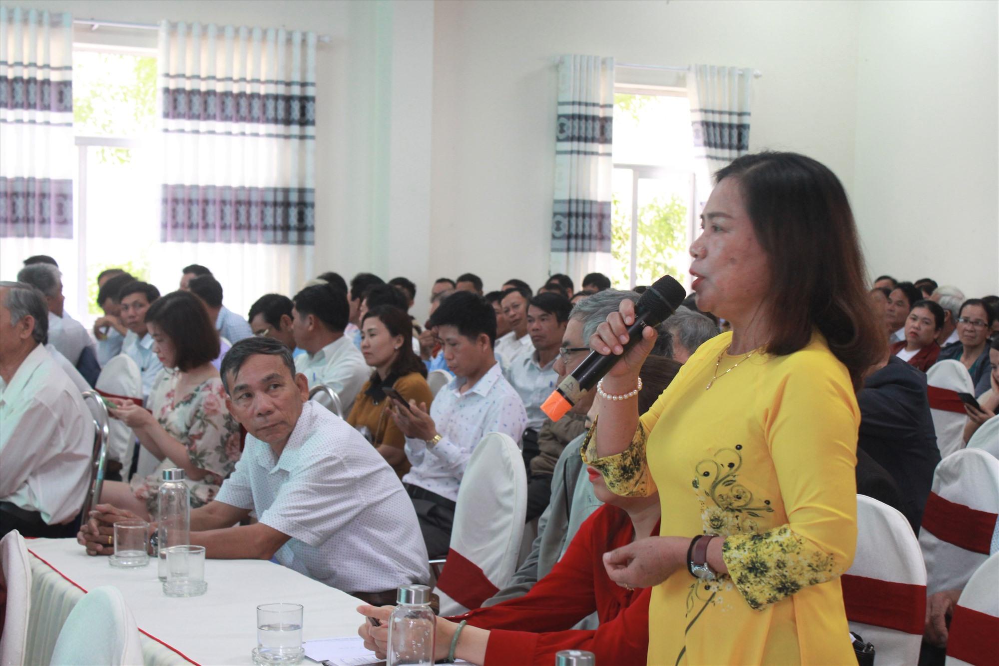 """Diễn đàn"""" Nông dân Quảng Nam khởi nghiệp sáng tạo từ sản phẩm địa phương"""" để lại nhiều ấn tượng trong chuỗi hoạt động Techfest Quang Nam 2021. Ảnh: C.V"""