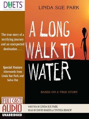 Bìa cuốn sách A Long Walk To Water (Lấy nước đường xa) của Linda Sue Park.