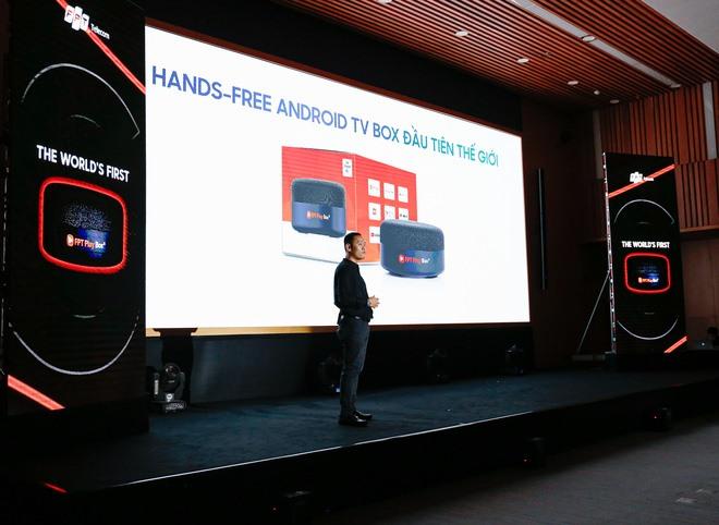 FPT Play Box S là thiết bị kết hợp giữa TV Box và loa thông minh đầu tiên trên thế giới. Ảnh: FPT