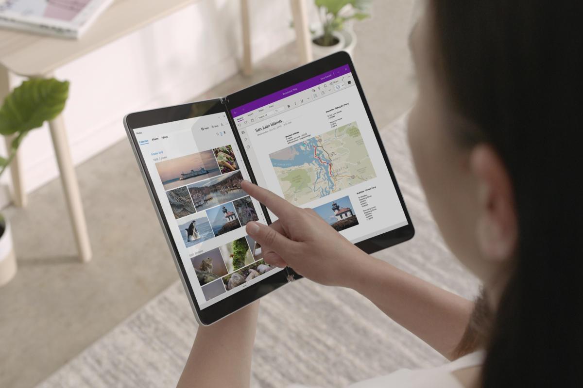 Microsoft bắt đầu giới thiệu Windows 10X vào năm 2019 cùng Surface Neo và Surface Duo. Ảnh: Info World
