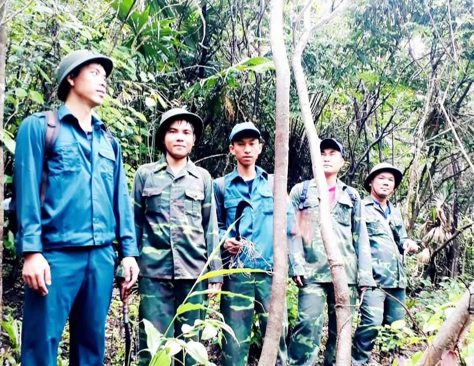 Lực lượng chức năng thường xuyên tuần tra, bảo vệ rừng ở khu vực xung quanh di sản Mỹ Sơn. Ảnh: T.P