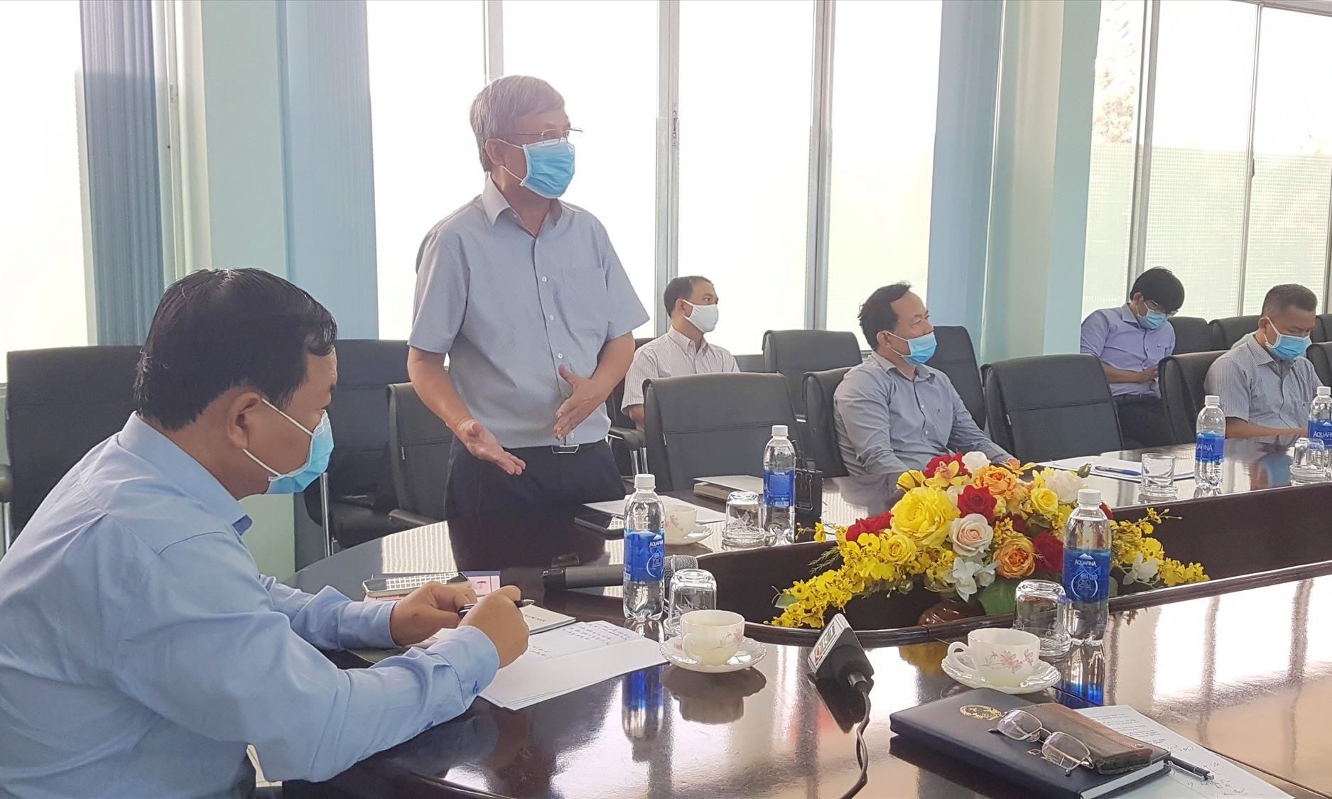 Đại diện chủ đầu tư KCN Điện Nam - Điện Ngọc cho biết đang gấp rút xử lý tình huống F0 đến KCN làm xuất hiện nhiều ca F1, F2. Ảnh: D.L