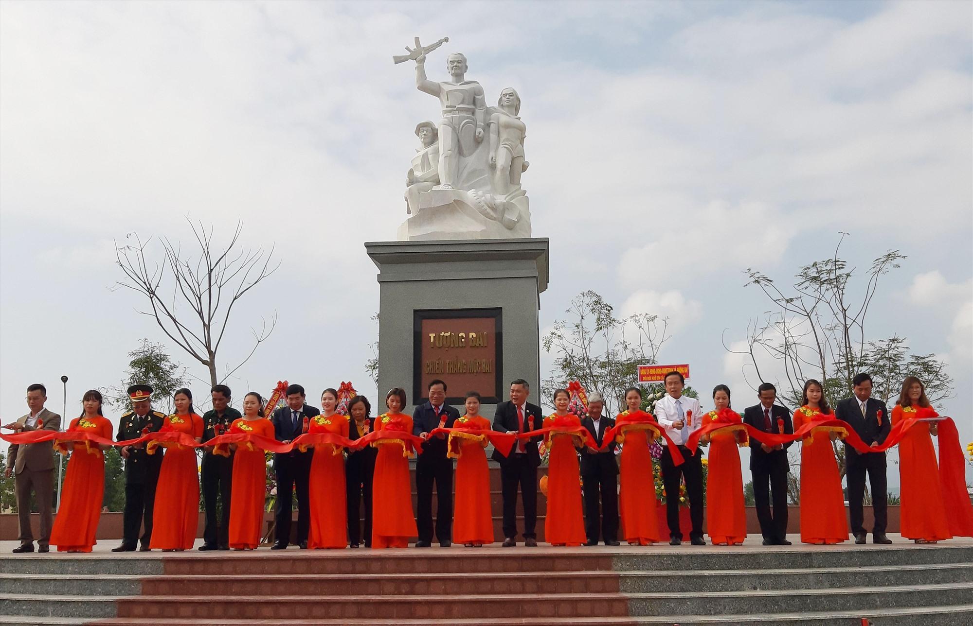 Tượng đài Chiến thắng Mộc Bài - một trong những tác phẩm của Trần Đức được chọn xây dựng vĩnh cửu, khánh thành tháng 4.2020. Ảnh: Tác giả cung cấp