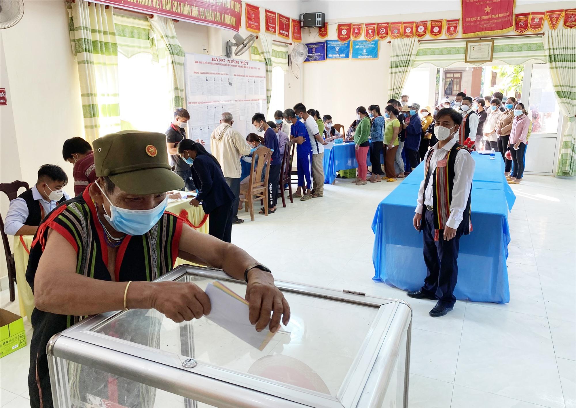 Tỷ lệ cử tri đi bầu ở các xã như Phước Kim, Phước Hòa, Phước Mỹ và Phước Xuân đạt 100%