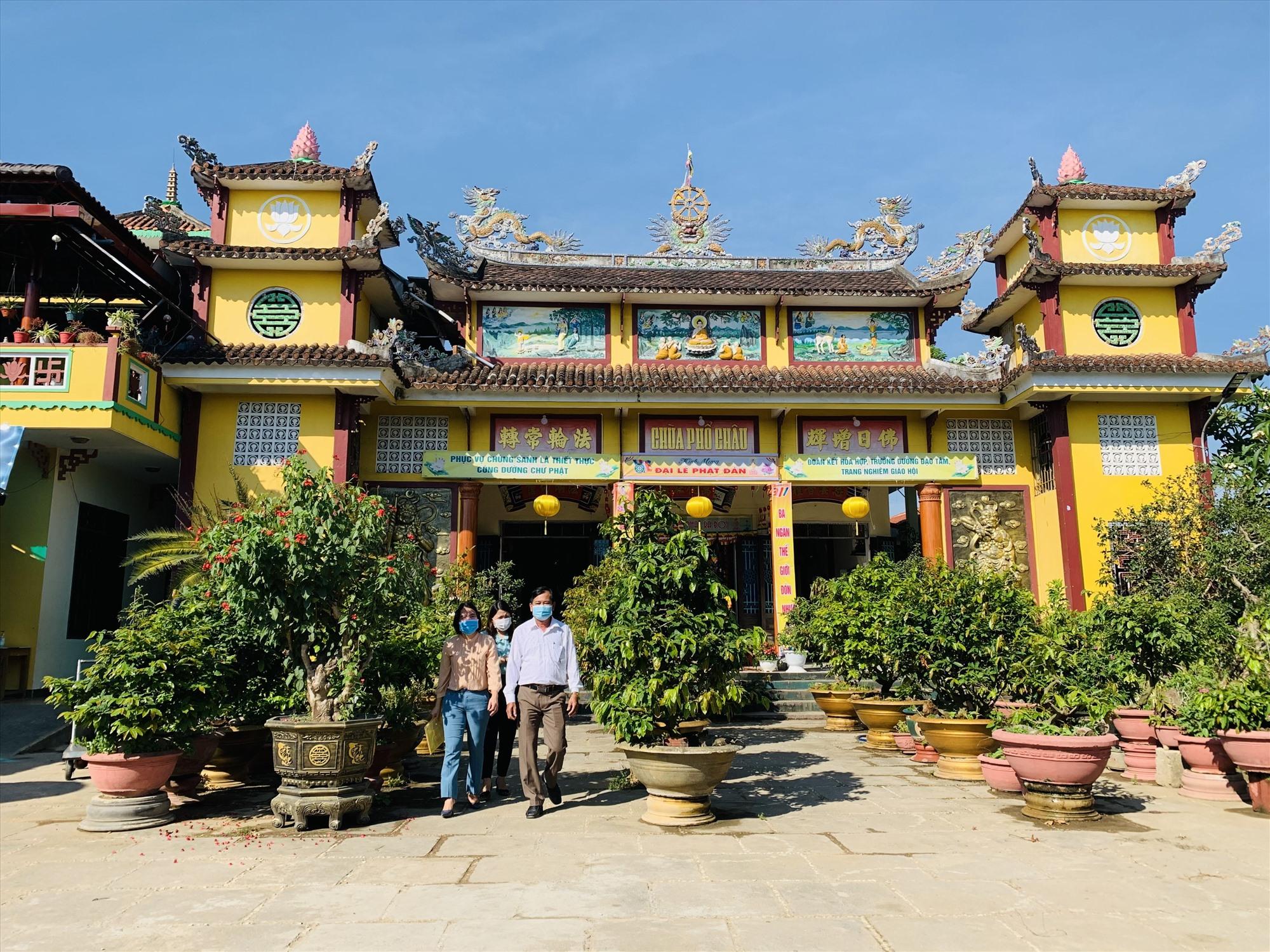Do ảnh hưởng dịch Covid-19, các chùa ở Duy Xuyên tạm dừng nhiều hoạt động tập trung đông người.   Ảnh: T.P