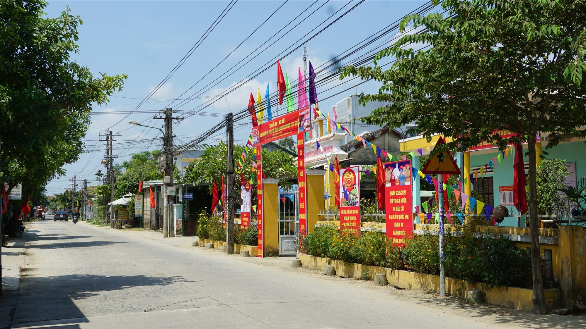 Diện mạo nông thôn mới ở thôn Châu Thủy, xã Điện Thọ.