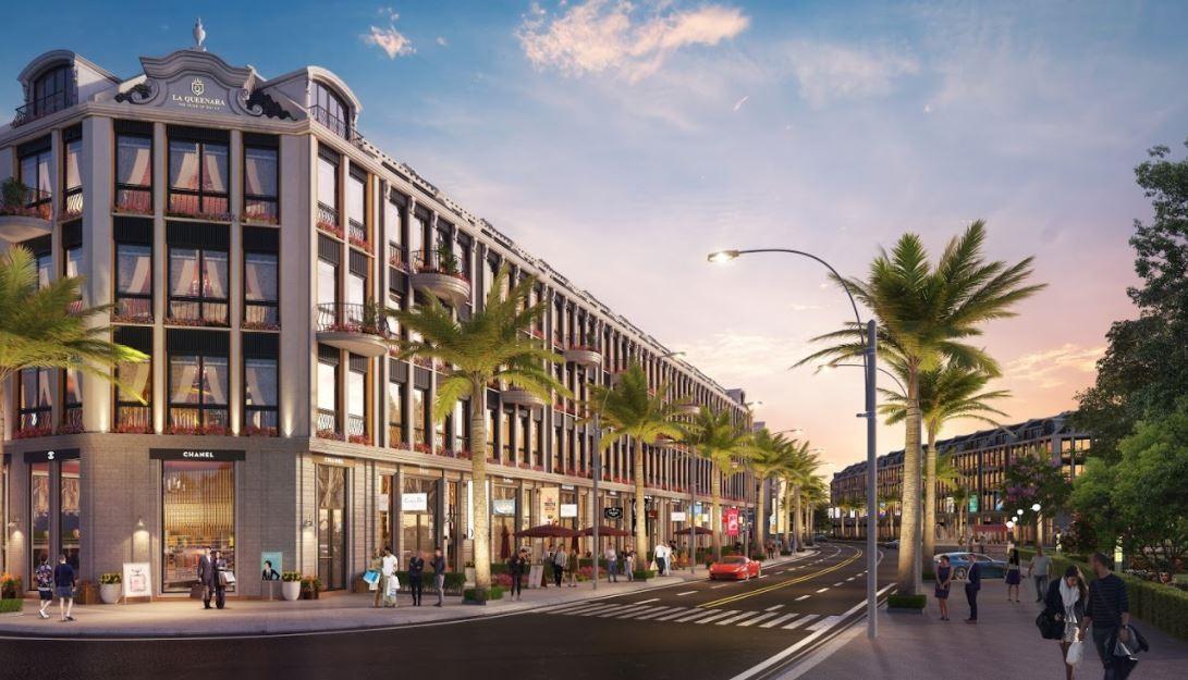 Khu đô thị nghỉ dưỡng phức hợp La Queenara được xem là dự án điểm sáng tại khu vực ven biển An Bàng. Ảnh: H.Đ