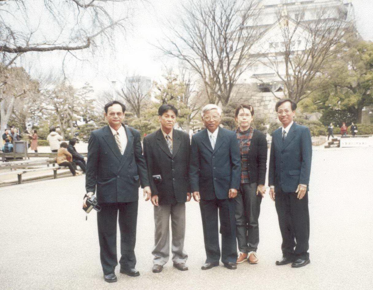 Nguyễn Đức Minh và giới chức Hội An tham dự một hội thảo tại Nhật Bản. Ảnh nhân vật cung cấp