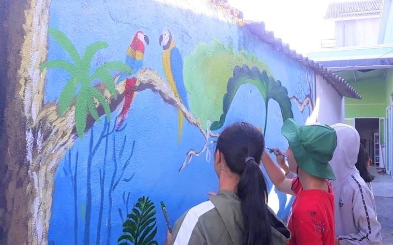 """Công trình thanh niên """"Bích họa làng quê"""" của tuổi trẻ Tam Kỳ. Ảnh: CTV"""