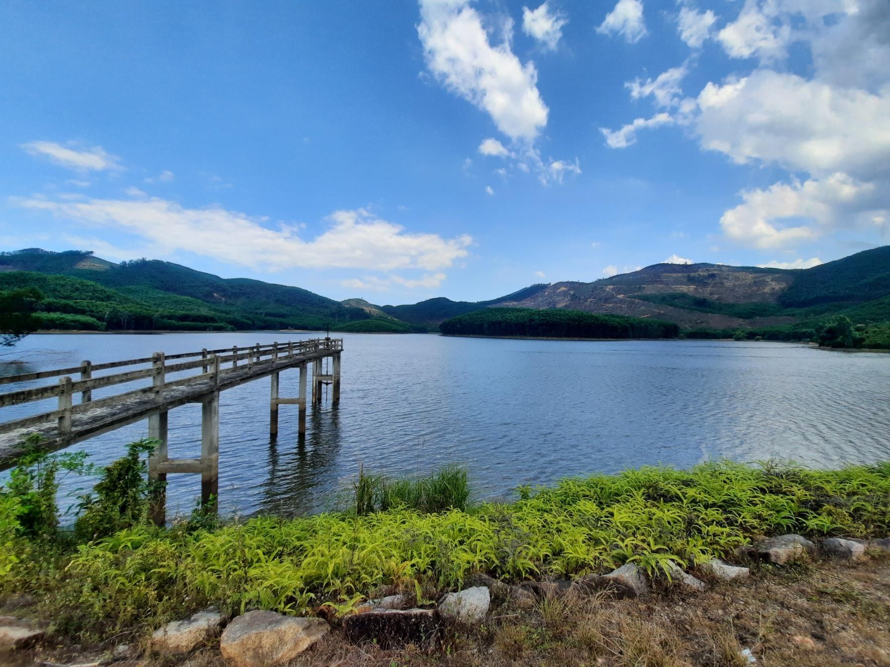 Đối với các hồ chứa thủy lợi, ngành nông nghiệp huyện Duy Xuyên đã xây dựng phương án tưới chi tiết cho từng hồ. Ảnh: H.ĐẠO