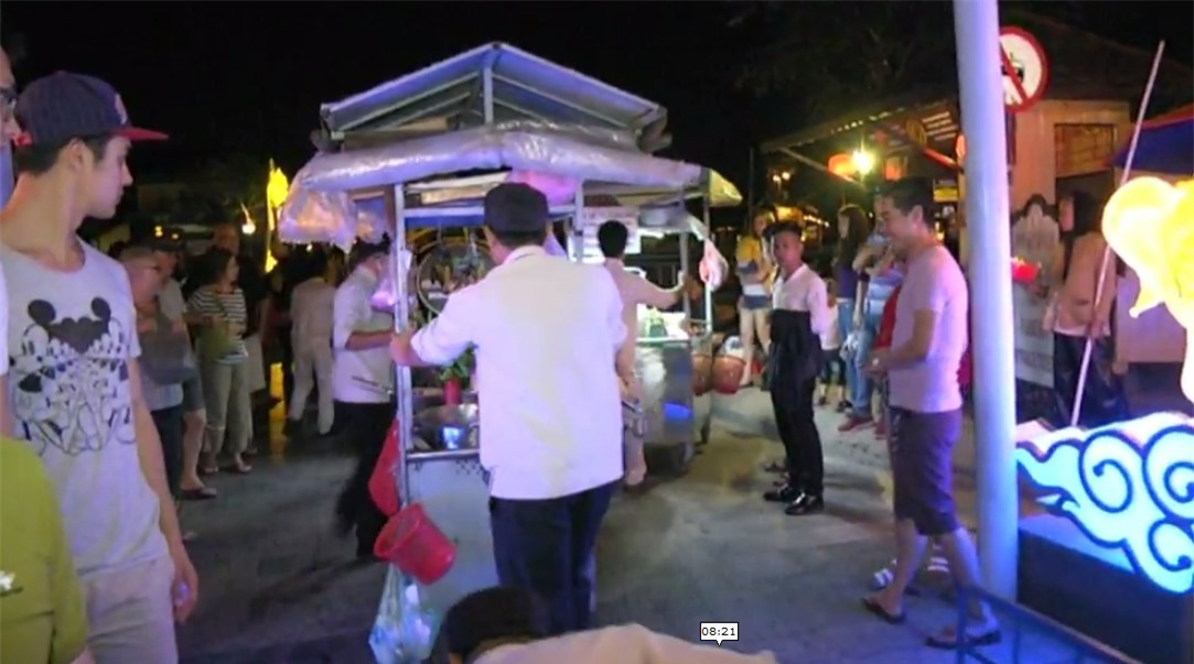 Night markets in Hoi An start when the city lights up.