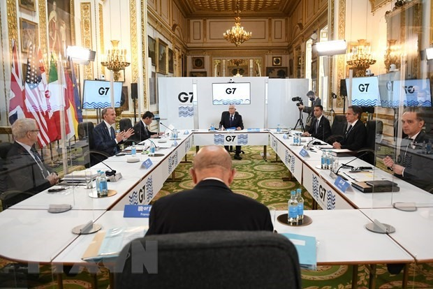 At the meeting of the G7 foreign ministers in London, the UK. (Photo: VNA)