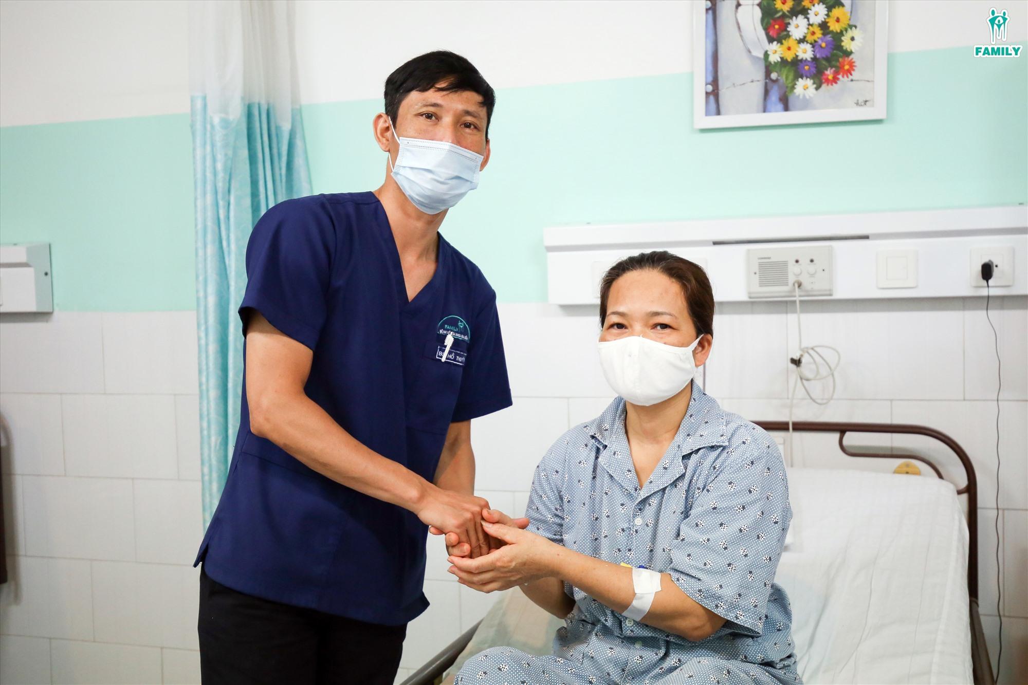 Bệnh nhân P.T.T đã được phẫu thuật xử lý thành công áp xe phần phụ trái