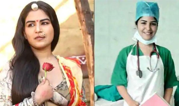 Nữ diễn viên Shikha Malhotra trở thành y tá chăm sóc bệnh nhân Covid-19. Ảnh: Shikha Malhotra/Instagram