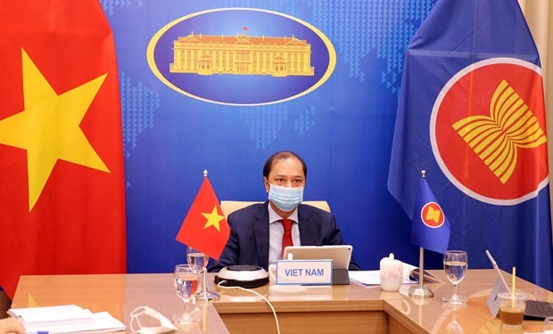 Deputy Foreign Minister and head of Vietnam's ASEAN SOM Nguyen Quoc Dung (Photo: VNA)