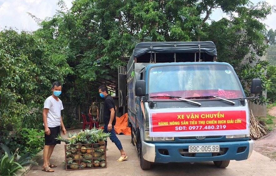 Người dân Bắc Giang đang gặp nhiều khó khăn trong tiêu thụ nông sản. Ảnh: Báo Bắc Giang