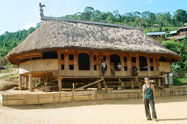 The communal house of the Cotu, called a Guol,