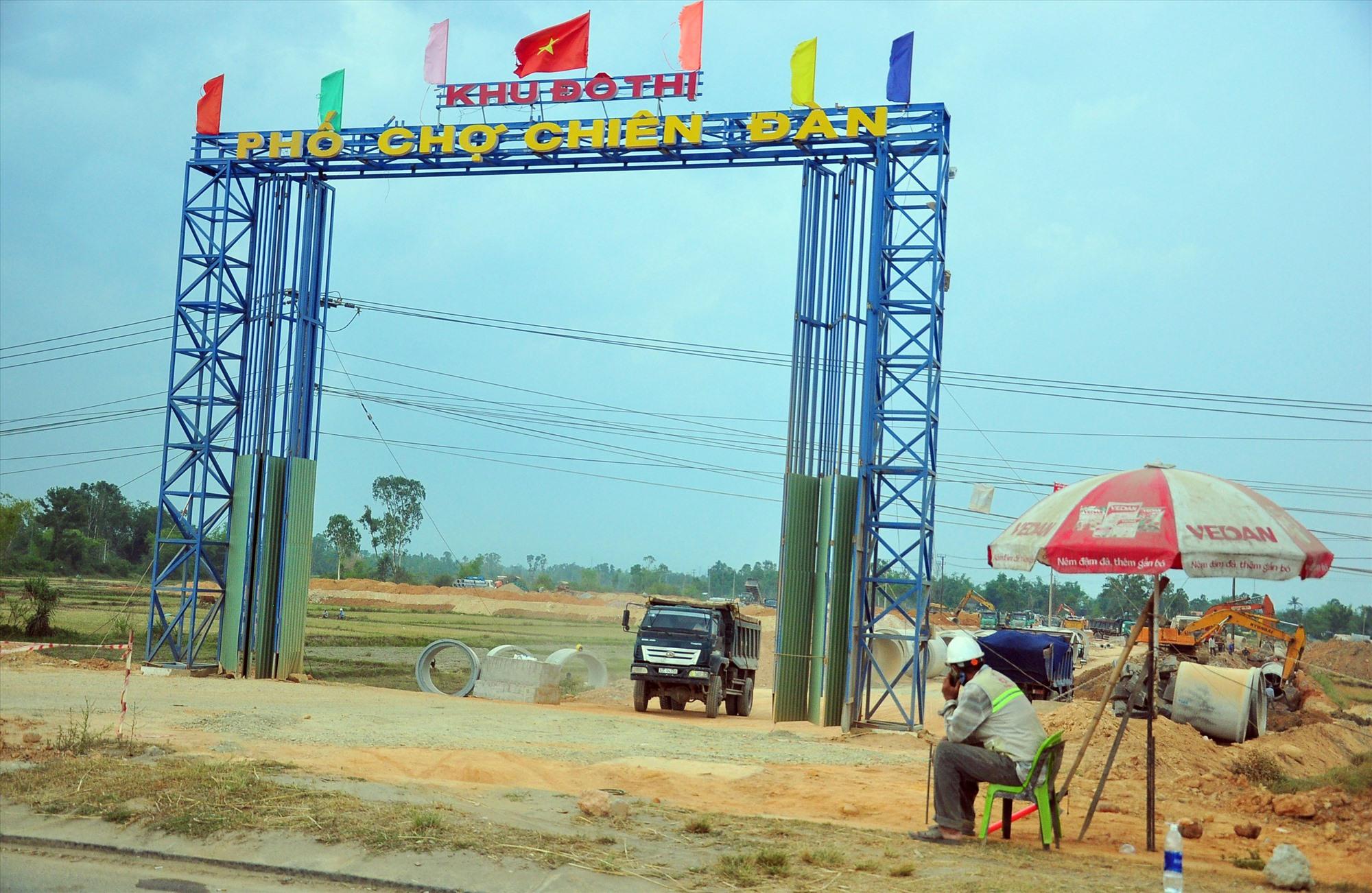 Xã Tam Đàn (Phú Ninh) có nhiều lợi thế trong phát triển đô thị khi nằm vị trí cửa ngõ TP.Tam Kỳ. Ảnh: V.A