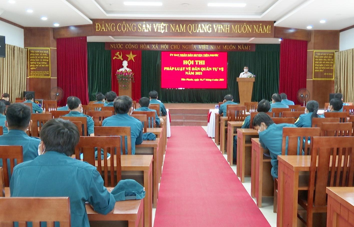 Tiên Phước tổ chức hội thi pháp luật về Dân quân tự vệ năm 2021
