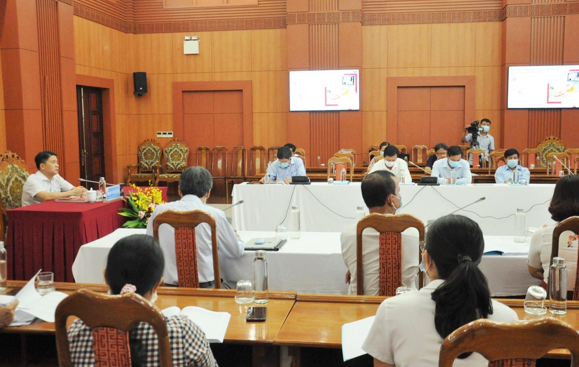 Đầu cầu Quảng Nam tại hội nghị toàn quốc trực tuyến tổng kết đề án xã hội học tập. Ảnh: X.P