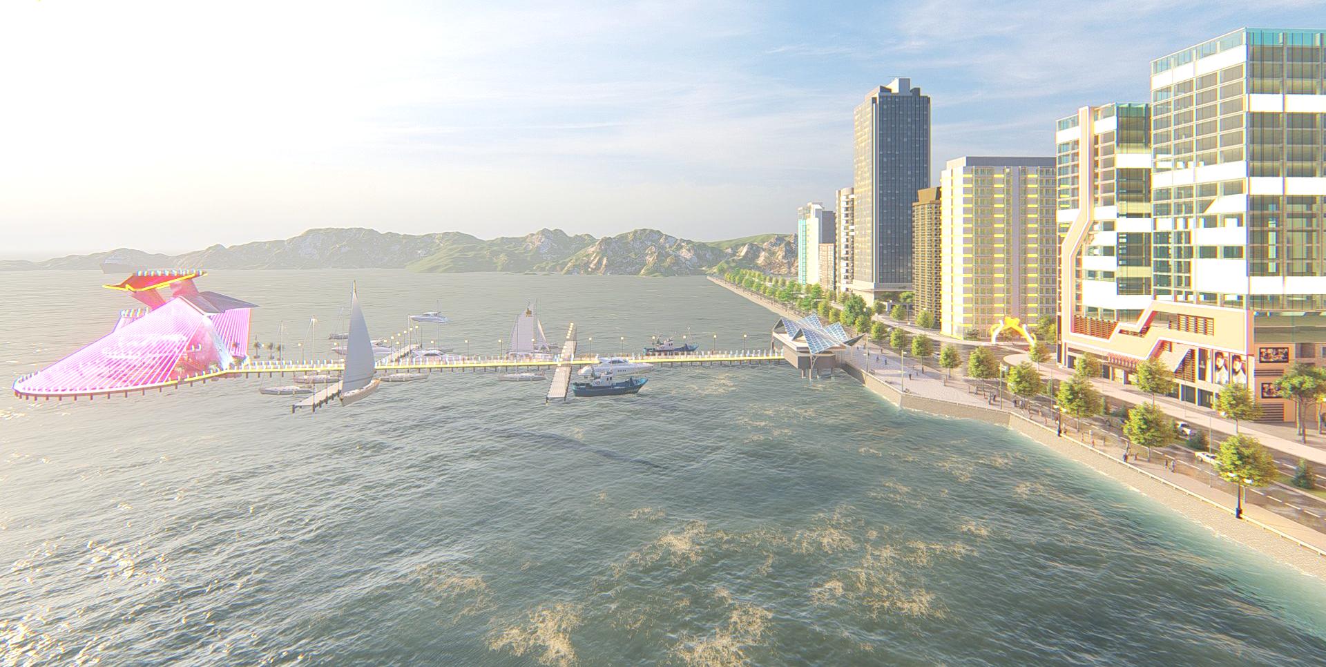 Bến du thuyền nằm ngay cửa vịnh là tiện ích cao cấp của Vịnh An Hòa City.