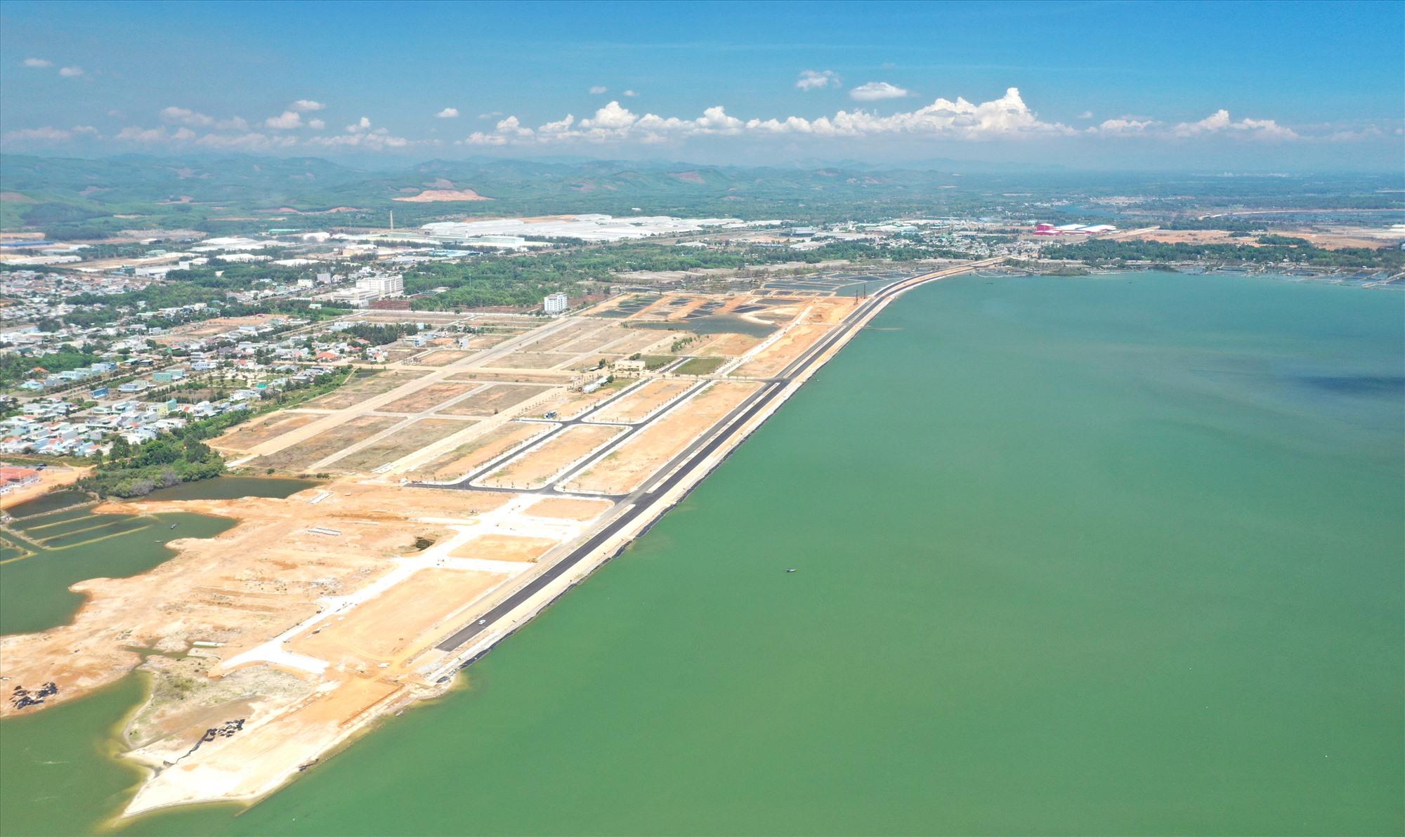 Vịnh An Hòa City tiếp giáp với đường Võ Chí Công, mặt hướng ra vịnh An Hòa lộng gió. Ảnh: K.K