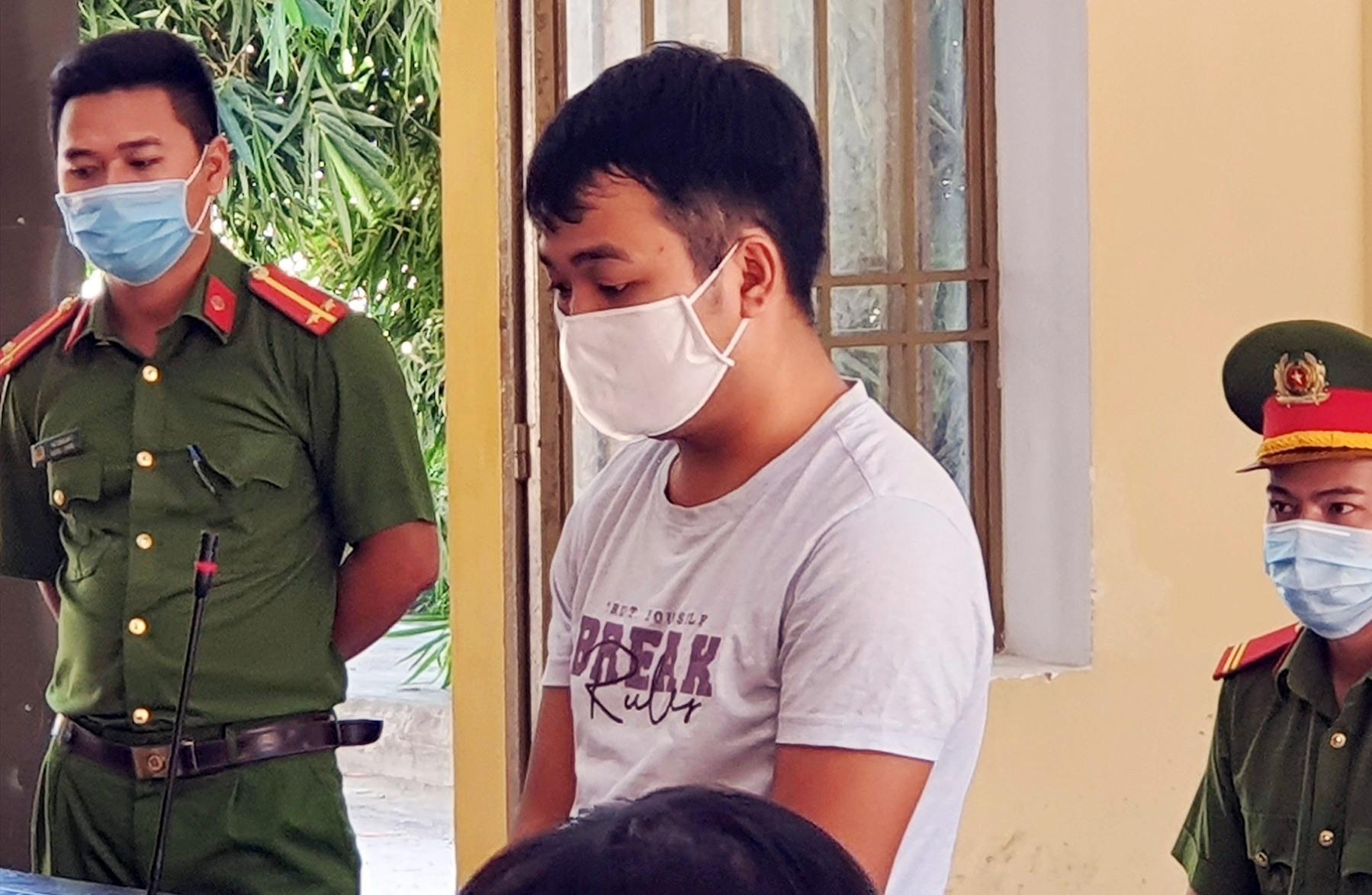 Bị cáo Nguyễn Anh Toàn tại tòa.