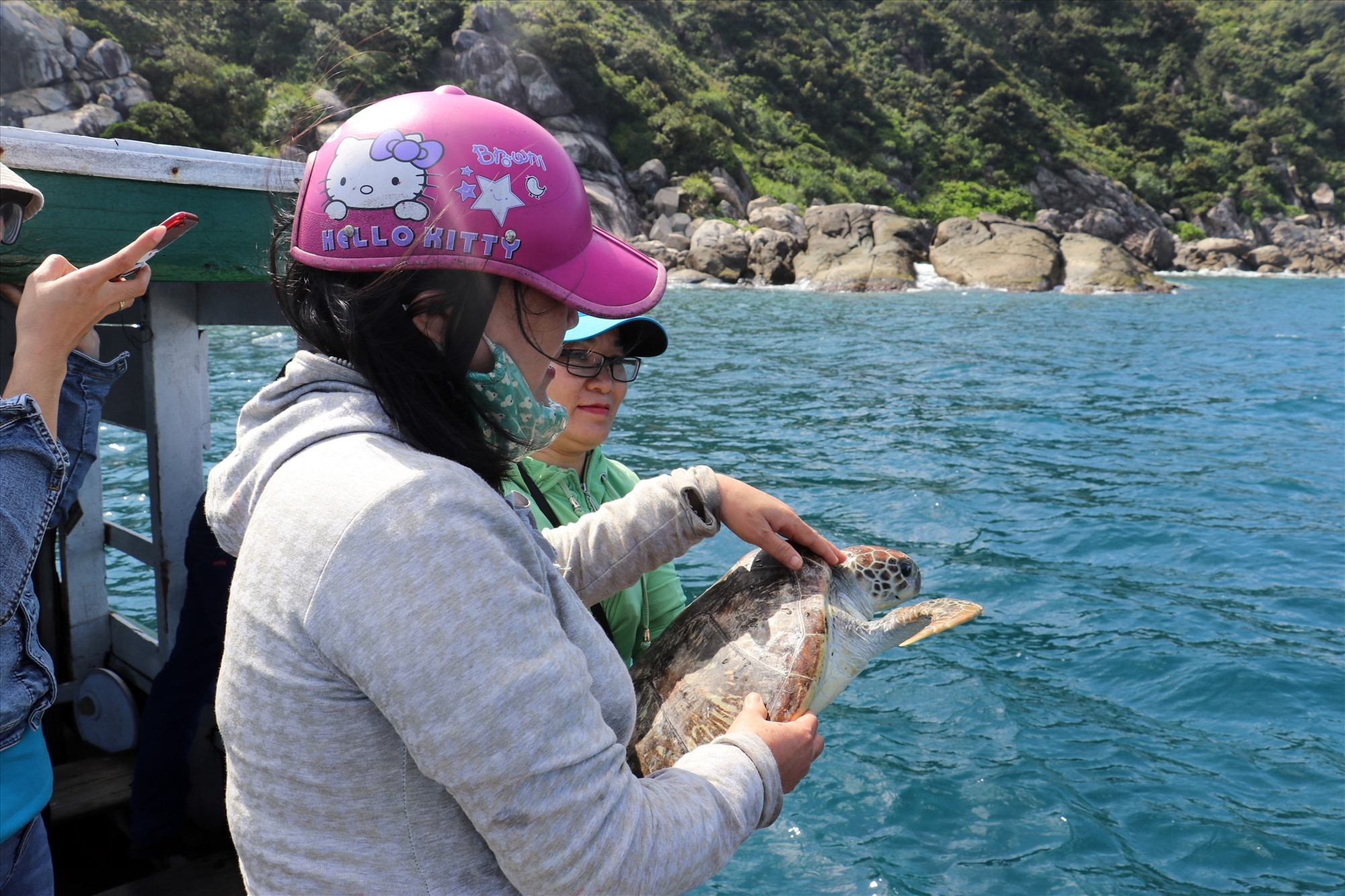More and more sea turtles are released into the wild by the local people.