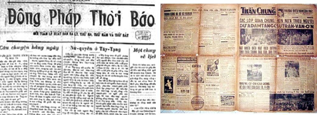 Các tờ báo mà Bùi Thế Mỹ tham gia tích cực.