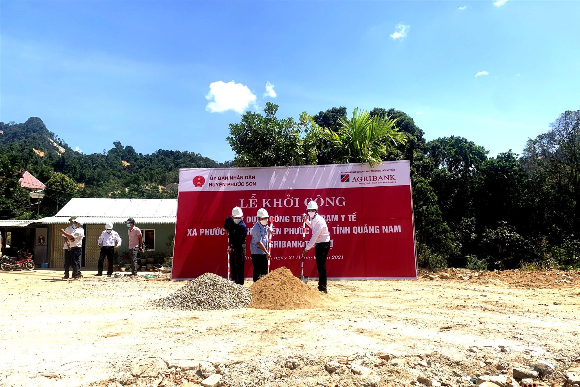 Khởi công xây dựng công trình Trạm Y tế xã Phước Thành. Ảnh: Q.VIỆT