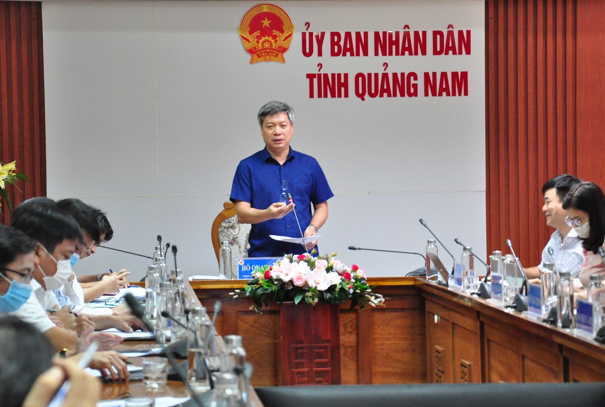 Phó Chủ tịch UBND tỉnh Hồ Quang Bửu phát biểu tại hội nghị chuyển đổi số vào cuối tuần qua. Ảnh: VINH ANH