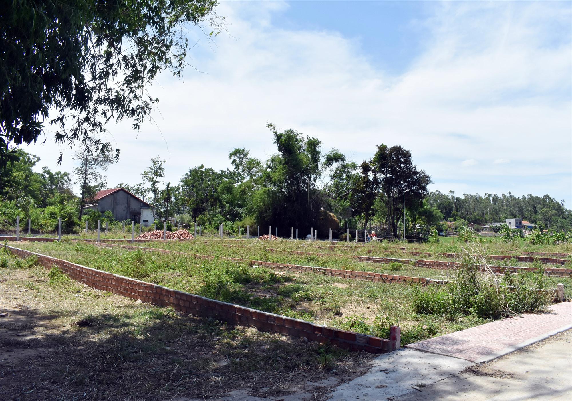 Nhiều khu đất ở Điện Tiến dù nằm ở vị trí heo hút vẫn được chia lô bán nền. Ảnh V.L