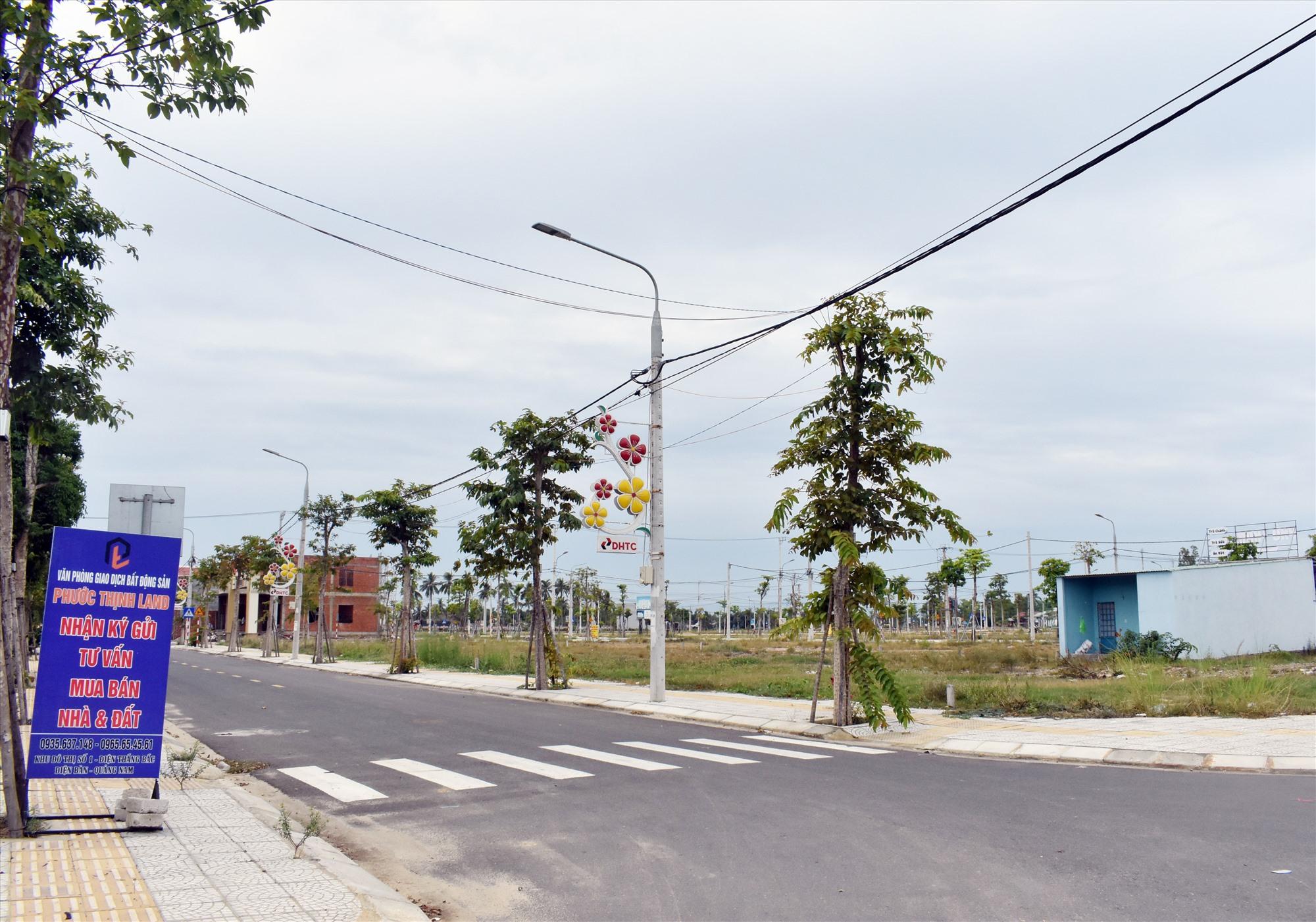 Các khu dự án dân cư ở Điện Bàn vẫn ế khách.